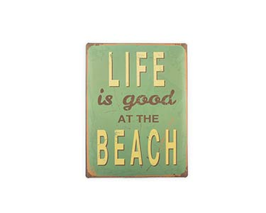 Placa de Metal Retro | Vintage Beach