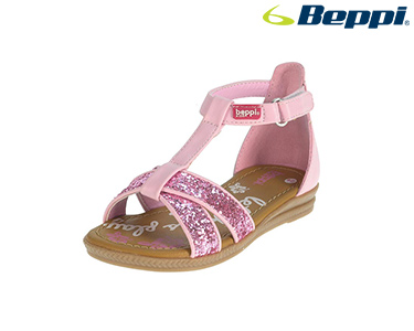 Sandálias Casuais Beppi® For Kids | Rosa c/ Brilhantes
