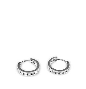 Brincos Rhea® Basic Cristal | Silver