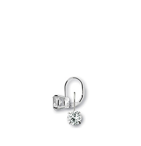 Brincos Rhea® Cristal Silver   8 mm