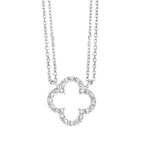 Colar Rhea® Silver Cristal | Trevo
