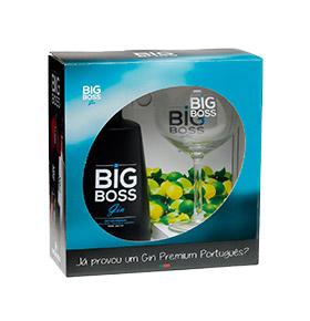 Gin Big Boss® Dry Premium com Copo, Zimbro & Medidor 5 cL