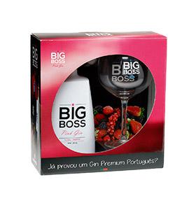 Gin Big Boss® Pink Floral com Copo, Hibisco & Medidor 5 cL