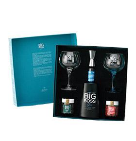 Pack Gin Big Boss® Dry Premium    2 Copos & Especiarias