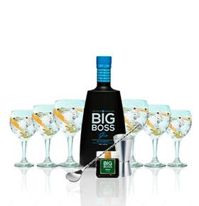Gin Big Boss® Dry Premium | 6 Copos & 4 Acessórios