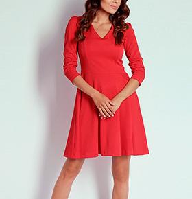 Vestido Naoko® Saia Rodada | Vermelho