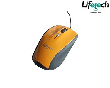Rato Óptico Fashion  Wired Laranja | Lifetech®