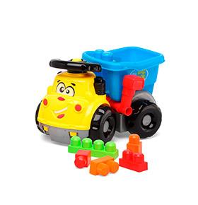 Camião Basculante com Blocos de Construção
