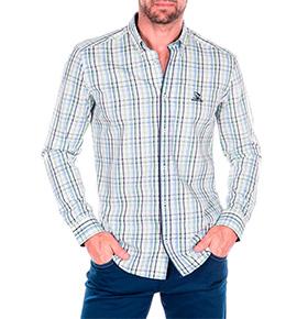 Camisa Giogio di Mare®  Azul e Verde