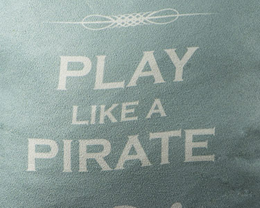 Almofada Work Like a Captain Play Like a Pirate