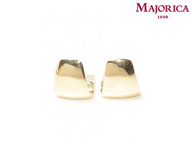 Brincos Majorica® com Chada Dourada