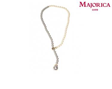 Colar Majorica® Yang com Pérolas Brancas e Cinza