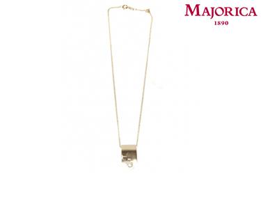 Colar Majorica® Detalhe com Pérola Dourada