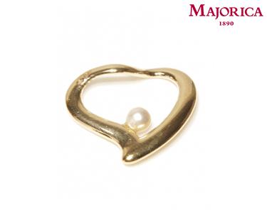 Pendente Majorica® Heart com Pérola Branca
