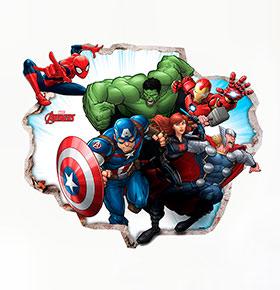Vinil de Parede 3D Marvel | Avengers 1