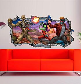 Vinil de Parede 3D Marvel | Guardiões da Galáxia 8