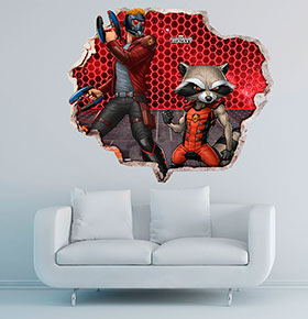 Vinil de Parede 3D Marvel | Guardiões da Galáxia 10
