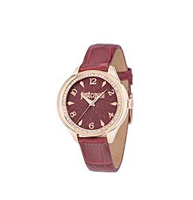 Relógio Just Cavalli® JC01 | Tijolo e Dourado