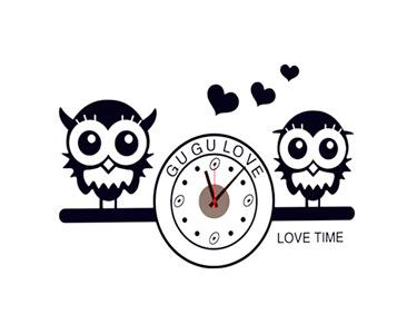 Vinil Decorativo Owl Clock