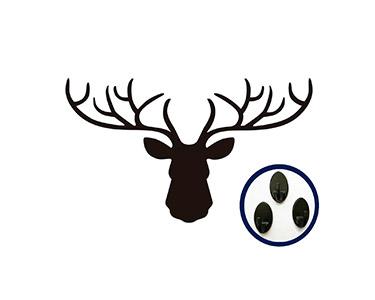 Vinil Decorativo com Cabides Deer