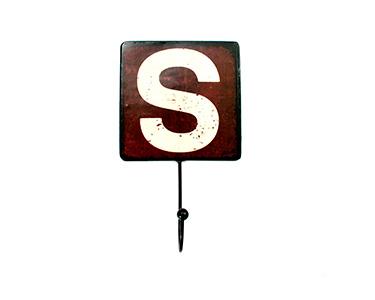 Cabide Decorativo Letters Metal | Letra S