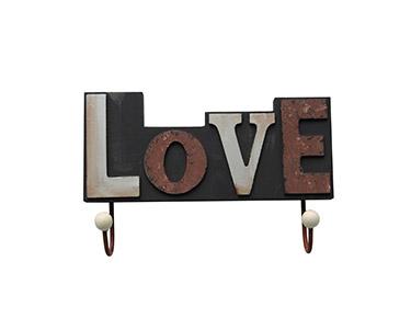 Cabide Decorativo 2 Ganchos Love