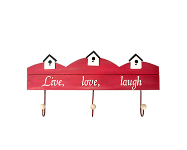 Cabide Decorativo | Live, Love e Laugh