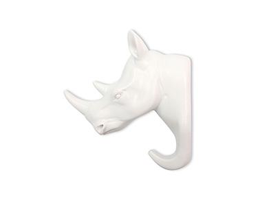 Cabide Decorativo Cabeça Rinoceronte