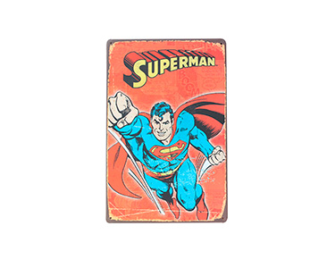 Quadro de Metal Vintage Superman Comic 20X30