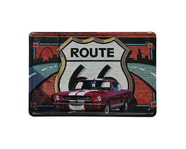 Quadro de Metal Vintage Route 66 Graffiti 20X30