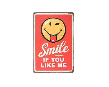 Quadro de Metal Vintage Smiling 20X30