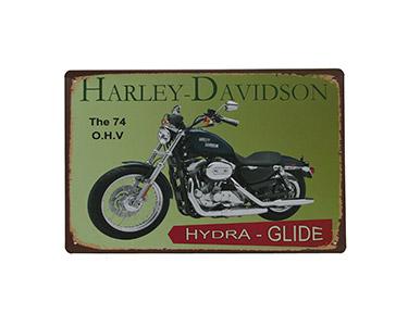 Quadro de Metal Vintage Harley Hydra Glide 20X30
