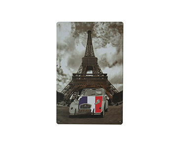 Quadro de Metal Vintage Paris 20X30
