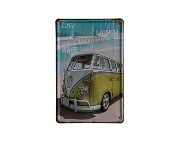 Quadro de Metal Vintage Wave Vw 15X21