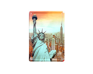 Quadro de Metal Vintage Ny Liberty 15X21