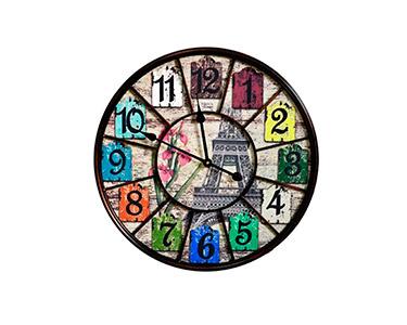 Relógio Decorativo de Parede Eiffel Flower 58