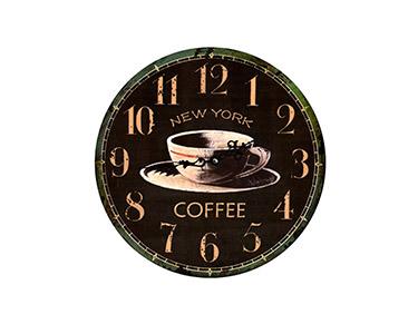 Relógio Decorativo de Parede Ny Coffee 34
