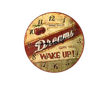 Relógio Decorativo de Parede Wake Up 34