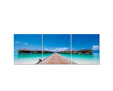 Tela Tríptico Caribbean Cabana