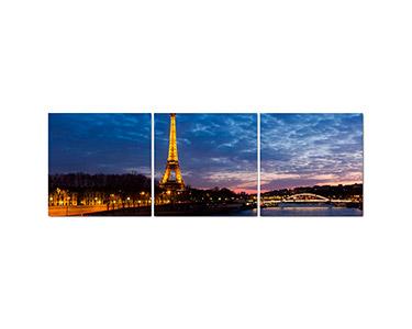 Tela Tríptico Paris Night