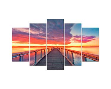 Tela Pirâmide 5 Peças Pier At Sunset