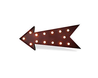Iluminação Metálica Decorativa Arrow
