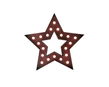 Iluminação Metálica Decorativa Star