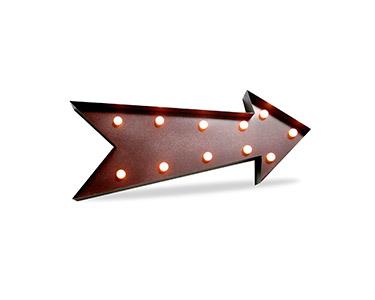Iluminação Metálica Decorativa E-Arrow