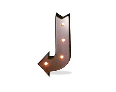 Iluminação Metálica Decorativa E-Down Arrow