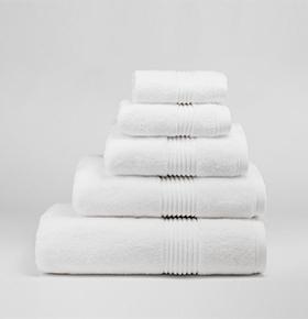 Conjunto 6 Toalhas Catherine Lansfield® So Soft | Branco