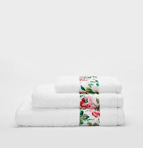 Conjunto 3 Toalhas Catherine Lansfield® So Soft | Branco & Rosas