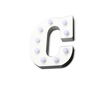 Letra Luminosa Decorativa | Letra C
