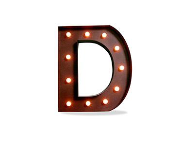 Iluminação Metálica Decorativa | Letra D