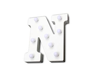 Letra Luminosa Decorativa | Letra N